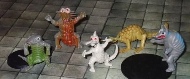 old plastic toys