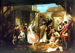 Rinconete y Cortadillo by Manuel Rodríguez de Guzmán (1818-1867)