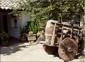 A wine wagon like the the one in the story.
