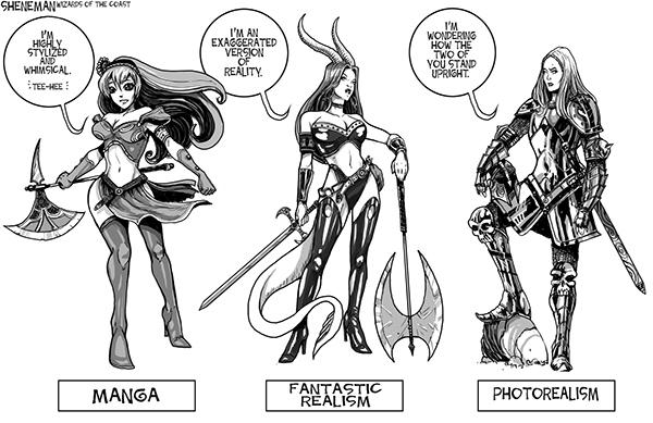 Drew Sheneman's cartoon on female armor.