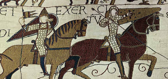 Kite shield in Bayeux Tapestry