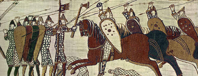 Kite shields in Bayeux Tapestry