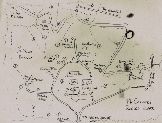 Pirate map for McCormick's Creek Park, Indiana