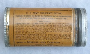 U.S. Army Emergency Ration can