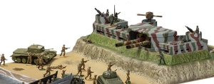 German gun emplacement toy, Airfix D-Day set