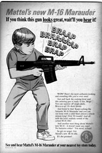 plastic toy m-16 from Mattel