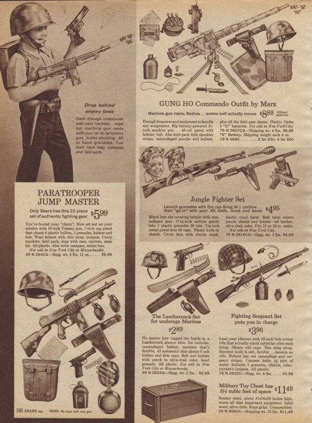 1964 Sears toy gun sets