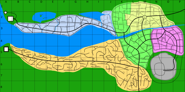 Large Anthavar city Player's Map with Grid