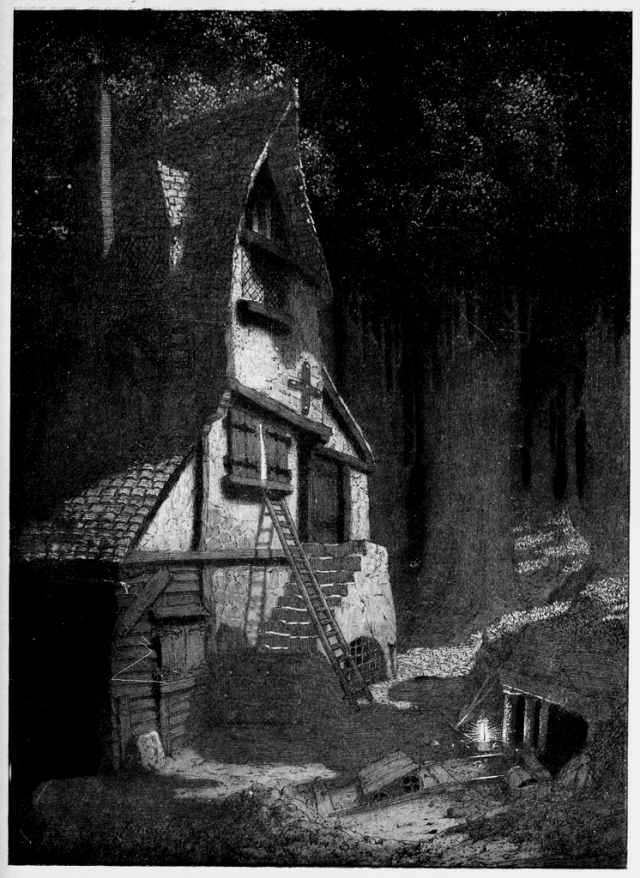 Sidney Sime's illustration of the Gnoles with gnoles and Nuth photoshopped out.