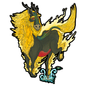Qilin with black surround
