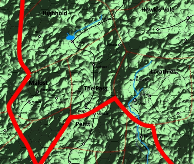 Map of The Pass