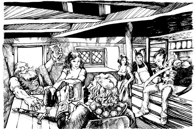 Tavern Scene from Pit of the Oracle in Dragon magazine #37