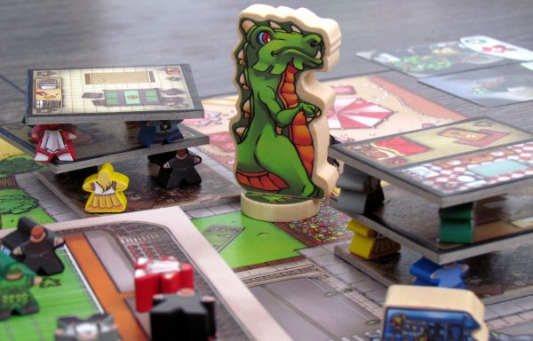 Terror in Meeple City, with the stickers on the meeple.