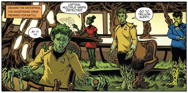 Vegepygmie crew of the Enterprise