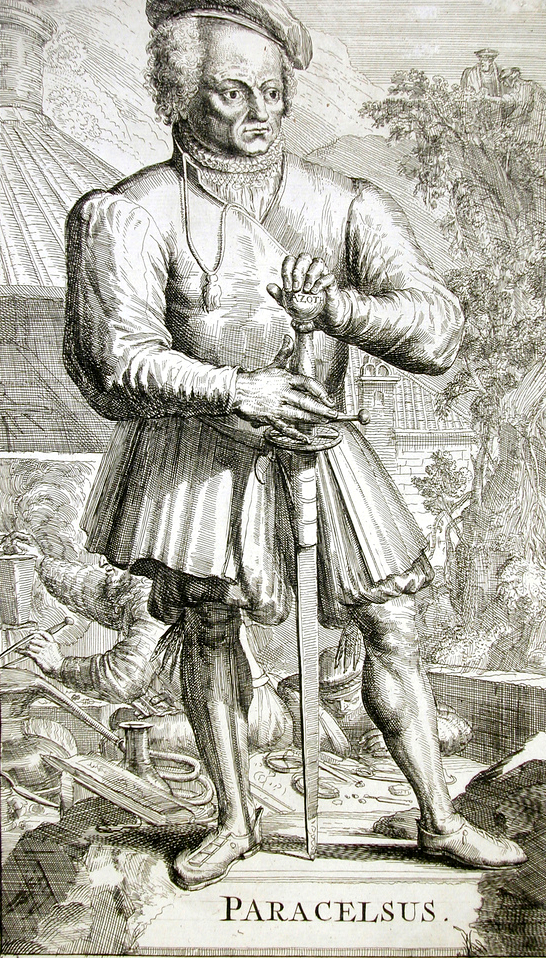 Paracelsus with sword