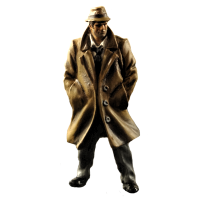 Endeavour Quinn, a typical film noir detective, made from an existing mini.
