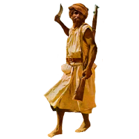 A Yemeni performing a bara (knife dance).